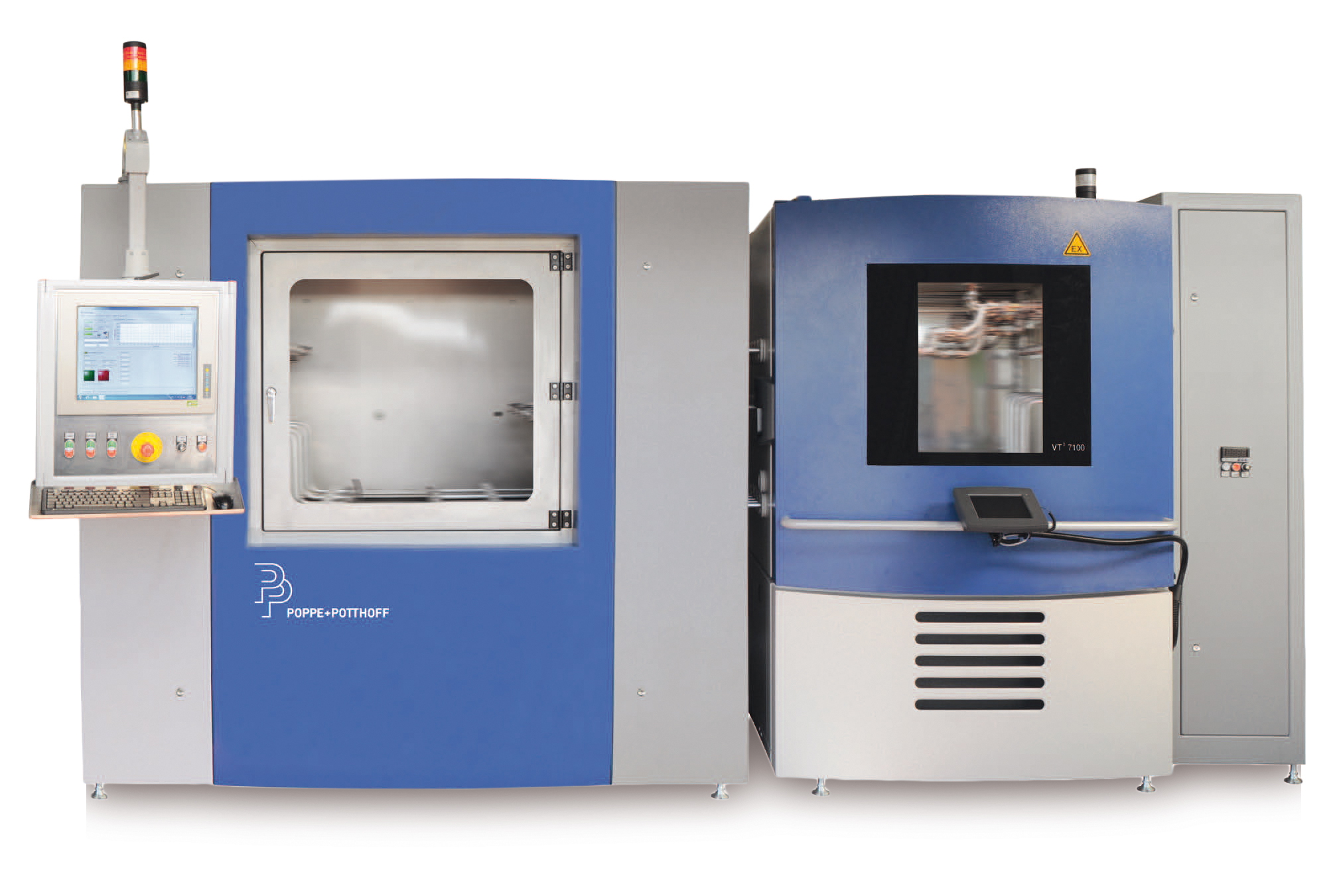 Burst Pressure Test Bench and Pressure Pulsation Test Stand with heated media and environmental chamber for ambient temperature
